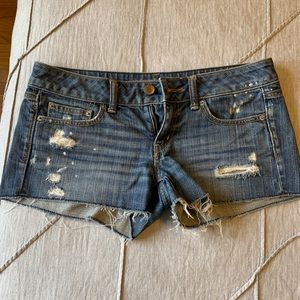 American eagle denim short shorts